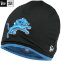 NFL サイドライン Tech ニットキャップ ライオンズ New Era Detroit Lions Sideline Tech Knit Cap - Black/Light Blue