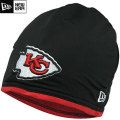 NFL サイドライン Tech ニットキャップ チーフス New Era Kansas City Chiefs Sideline Tech Knit Cap - Black/Red