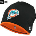 NFL サイドライン Tech ニットキャップ ドルフィンズ New Era Miami Dolphins Sideline Tech Knit Cap - Black/Orange