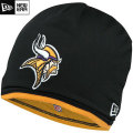 NFL サイドライン Tech ニットキャップ バイキングス New Era Minnesota Vikings Sideline Tech Knit Cap - Black/Gold