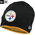 NFL サイドライン Tech ニットキャップ スティーラーズ New Era Pittsburgh Steelers Sideline Tech Knit Cap - Black/Gold