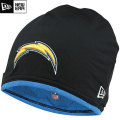 NFL サイドライン Tech ニットキャップ チャージャース New Era San Diego Chargers Sideline Tech Knit Cap - Black/Light Blue