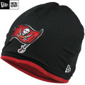 NFL サイドライン Tech ニットキャップ バッカニアーズ New Era Tampa Bay Buccaneers Sideline Tech Knit Cap - Black/Red
