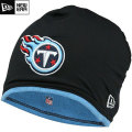 NFL サイドライン Tech ニットキャップ タイタンズ New Era Tennessee Titans Sideline Tech Knit Cap - Black/Light Blue