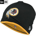 NFL サイドライン Tech ニットキャップ レッドスキンズ New Era Washington Redskins Sideline Tech Knit Cap - Black/Gold