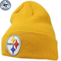 NFL ベーシック カフド ニットキャップ スティーラーズ(ゴールド) '47 Brand Pittsburgh Steelers Cuffed Beanie - Gold