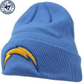 NFL ベーシック カフド ニットキャップ チャージャース(ライトブルー) '47 Brand San Diego Chargers Cuffed Beanie - Powder Blue