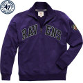 NFL Blitzプルオーバー スウェットシャツ レイブンズ '47 Brand Baltimore Ravens Purple Blitz 1/4 Zip Pullover Sweatshirt