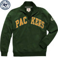 NFL Blitzプルオーバー スウェットシャツ パッカーズ '47 Brand Green Bay Packers Green Blitz 1/4 Zip Pullover Sweatshirt