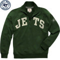NFL Blitzプルオーバー スウェットシャツ ジェッツ '47 Brand New York Jets Green Blitz 1/4 Zip Pullover Sweatshirt