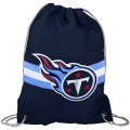 NFL チームロゴ バックパック タイタンズ Tennessee Titans Navy Blue Team Logo Drawstring Backpack