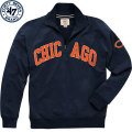 NFL Blitzプルオーバー スウェットシャツ ベアーズ '47 Brand Chicago Bears Navy Blitz 1/4 Zip Pullover Sweatshirt