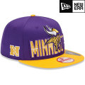 NFL 2013 9Fiftyドラフトキャップ バイキングス New Era Minnesota Vikings 2013 Draft 9FIFTY Snapback Cap