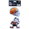 NFL ダイカットステッカー2種セット ブラウンズ(A) Cleveland Browns Set of 2 Die Cut Decals (A)
