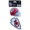 NFL ダイカットステッカー2種セット チーフス(A) Kansas City Chiefs Set of 2 Die Cut Decals (A)