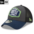 NFL 2021ドラフト39THIRTYキャップ シーホークス New Era Seattle Seahawks Graphite/College Navy 2021 NFL Draft 39THIRTY Cap