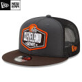NFL 2021ドラフト9FIFTYキャップ ブラウンズ New Era Cleveland Browns Graphite/Brown 2021 NFL Draft 9FIFTY Snapback Cap