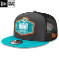 NFL 2021ドラフト9FIFTYキャップ ドルフィンズ New Era Miami Dolphins Graphite/Aqua 2021 NFL Draft 9FIFTY Snapback Cap