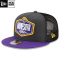NFL 2021ドラフト9FIFTYキャップ バイキングス New Era Minnesota Vikings Graphite/Purple 2021 NFL Draft 9FIFTY Snapback Cap