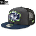 NFL 2021ドラフト9FIFTYキャップ シーホークス New Era Seattle Seahawks Graphite/College Navy 2021 NFL Draft 9FIFTY Snapback Cap