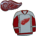 NHLジャージ&チームロゴ ピン2種セット レッドウィングズ Detroit Red Wings 2-Piece Pin Set