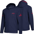 NHL Squad Wovenフルジップフーディー キャピタルズ(ネイビー) adidas Washington Capitals Navy Squad Woven Full-Zip Hoodie