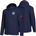 NHL Squad Wovenフルジップフーディー レンジャース(ブルー) adidas New York Rangers Blue Squad Woven Full-Zip Hoodie
