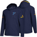 NHL Squad Wovenフルジップフーディー ブルース(ブルー) adidas St. Louis Blues Blue Squad Woven Full-Zip Hoodie
