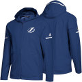 NHL Squad Wovenフルジップフーディー ライトニング(ブルー) adidas Tampa Bay Lightning Blue Squad Woven Full-Zip Hoodie