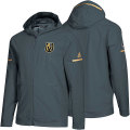 NHL Squad Wovenフルジップフーディー ゴールデンナイツ(グレー) adidas Vegas Golden Knights Gray Squad Woven Full-Zip Hoodie
