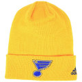 NHL ベーシック カフド ニットキャップ ブルース(イエロー) adidas St. Louis Blues Yellow Cuffed Knit Cap