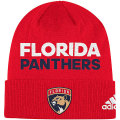 NHL ロッカールーム カフド ニットキャップ パンサーズ(レッド) adidas Florida Panthers Red Locker Room Cuffed Knit Cap