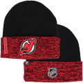 NHL選手着用モデル カフド ニットキャップ デビルズ(ブラック/レッド) New Jersey Devils Black/Red Cuffed Knit Cap