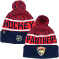 NHL選手着用モデル Goalieカフド ニットキャップ パンサーズ(ネイビー/レッド) Florida Panthers Navy/Red Cuffed Knit Cap