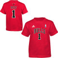 NBA デリック・ローズ Tシャツ(レッド ジュニア)ブルズ adidas Chicago Bulls Derrick Rose Youth Red Game Time T-Shirt