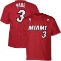 NBA ドウェイン・ウェイド Tシャツ(レッド ジュニア)ヒート adidas Miami Heat Dwyane Wade Youth Red Game Time T-Shirt