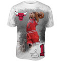 NBAデリック・ローズ Poster Tシャツ ブルズ(ジュニア) Level Wear Chicago Bulls Derrick Rose Youth Poster T-Shirt