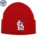 MLB チームロゴ カフドニットキャップ カージナルス(レッド) '47 Brand St. Louis Cardinals Cuff Knit Cap - Red
