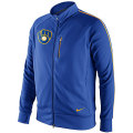 MLB ナイキ Tempo トラックジャケット ブルワーズ Nike Milwaukee Brewers Cooperstown Tempo Track Jacket