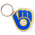 MLB チームロゴ アクリル キーチェーン ブリュワーズ(B) Milwaukee Brewers High Definition Keychain (B)