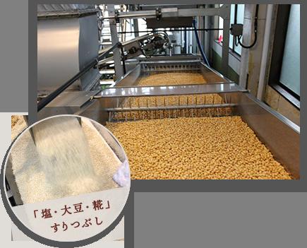 大豆、糀加工過程