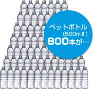 ペットボトル(500mℓ) 800本が