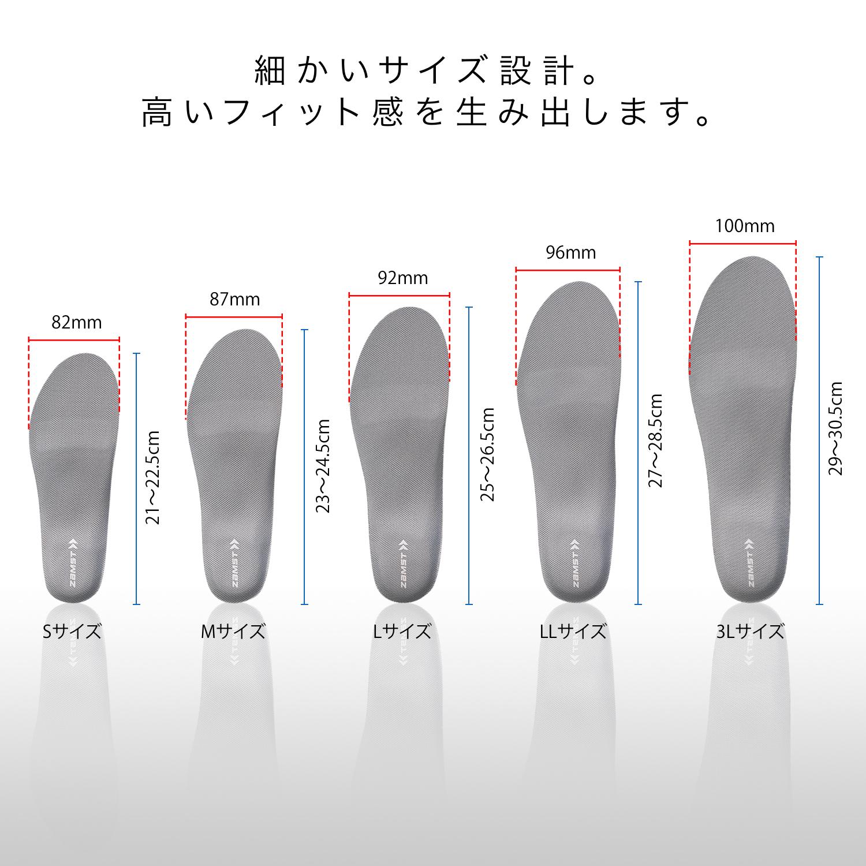 細かいサイズ設計