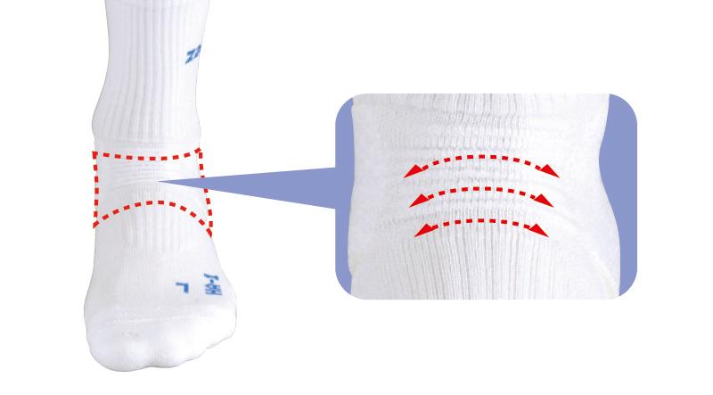 足の自然な動きを妨げないフロントウェーブ