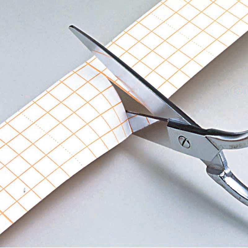 切りやすい方眼つき剥離シール
