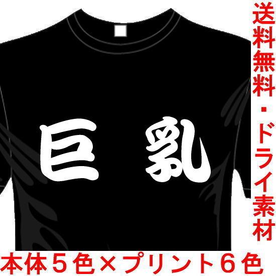 おもしろ漢字Tシャツ 巨乳 送料無料