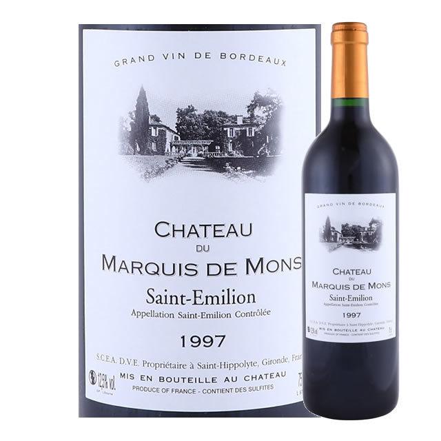 シャトー・デュ・マルキ・ド・モン サン・テミリオン グラン・クリュ 1997