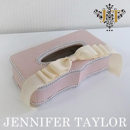 【P10倍 1/31 11:59まで】ジェニファーテイラー Jennifer Taylor ティッシュBOX・Chinon(PK)-Ribbon