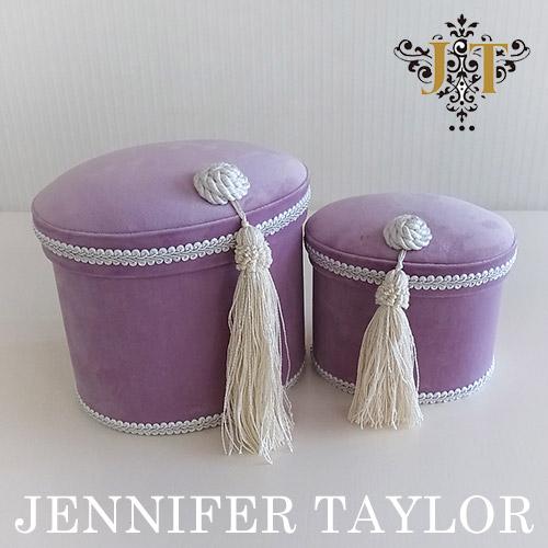 【ポイント2倍 6月】ジェニファーテイラー Jennifer Taylor オーバルBOX2Pセット・Bois De Rose