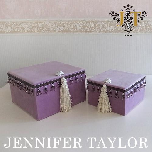 【ポイント2倍 6月】【送料無料】ジェニファーテイラー Jennifer Taylor BOX2Pセット・Bois De Rose
